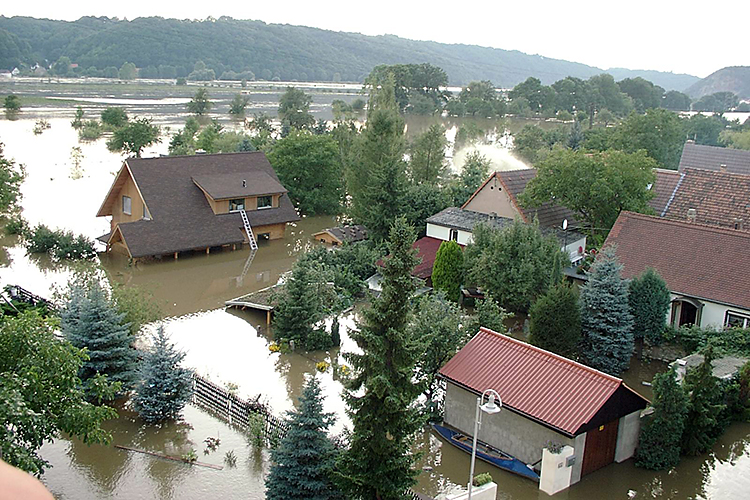 Hochwasser in Brockwitz